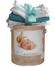 Baby's First Year Personalized Photo Goodie Tin