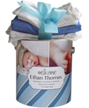 Personalized Baby Boy Gift Goodie Tin