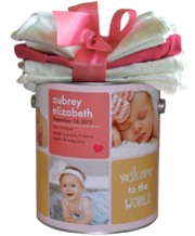 Personalized Baby Girl Gift Goodie Tin