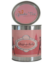 Shop-a-holic Goodie Tin