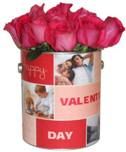 Valentine's Day Photo Flower Tin